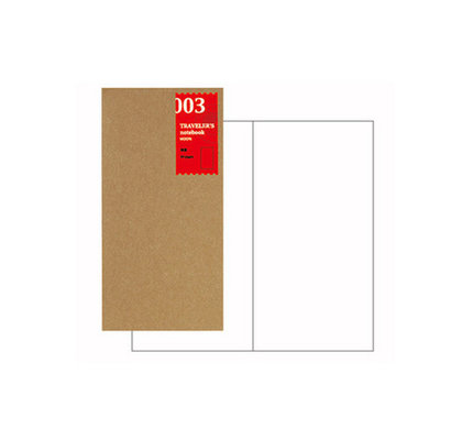 Traveler's Traveler's Notebook #003 Regular Refill Blank