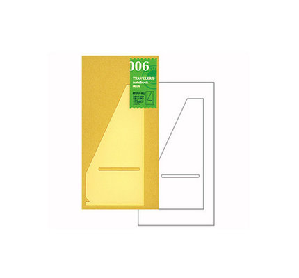 Traveler's Notebook #006 Regular Refill Pocket Sticker Large