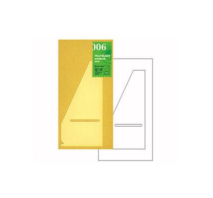 Traveler's Traveler's Notebook #006 Regular Refill Pocket Sticker Large
