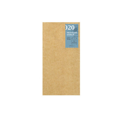 Traveler's Traveler's Notebook #020 Regular Refill Kraft Paper Folder
