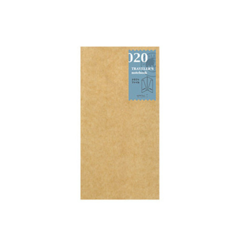 Traveler's Notebook #020 Regular Refill Kraft Paper Folder