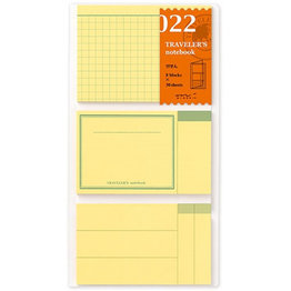 Traveler's Traveler's Notebook #022 Regular Refill Post It