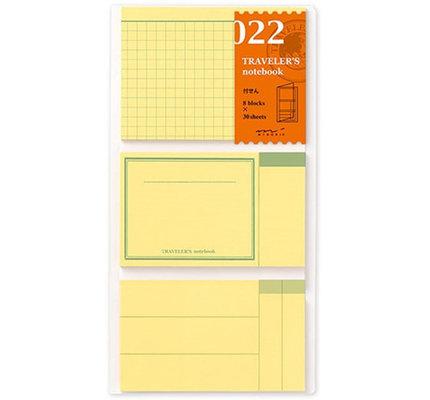 Traveler's Notebook #022 Regular Refill Post It