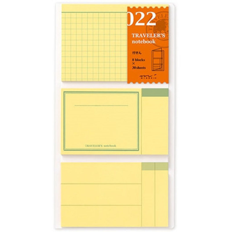 Traveler's Traveler's Notebook #022 Regular Refill Post It