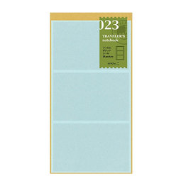 Traveler's Traveler's Notebook #023 Regular Refill Film Pocket Sticker