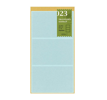 Traveler's Notebook #023 Regular Refill Film Pocket Sticker