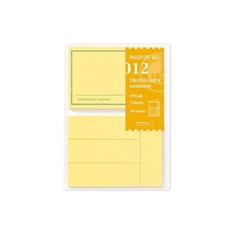 Traveler's Traveler's Notebook #012 Passport Refill Post It