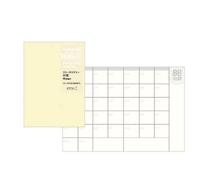 Traveler's Traveler's Notebook #006 Passport Size Free Diary Monthly