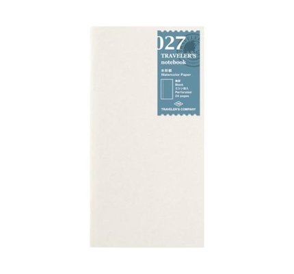 Traveler's Traveler's Notebook #027 Regular Refill Watercolor Paper