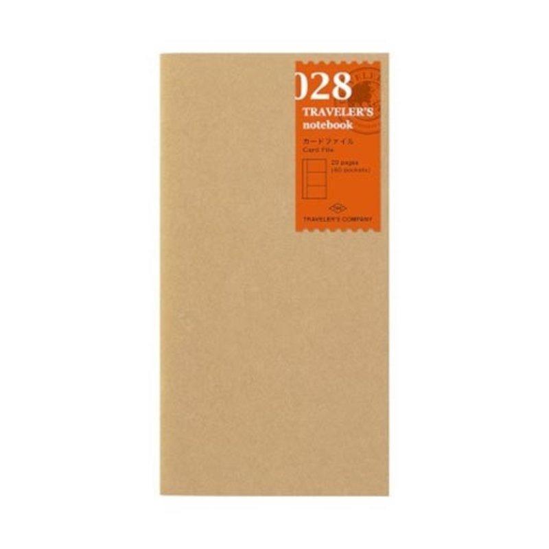 Traveler's Traveler's Notebook #028 Regular Refill Card File