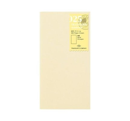 Traveler's Traveler's Notebook #025 Regular Refill MD Paper Cream Blank