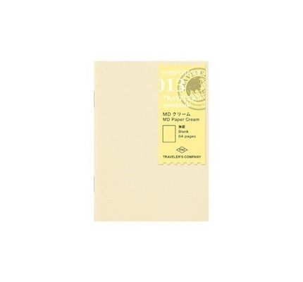 Traveler's Notebook #013 Passport Refill MD Paper Cream Blank