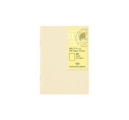 Traveler's Traveler's Notebook #013 Passport Refill MD Paper Cream Blank
