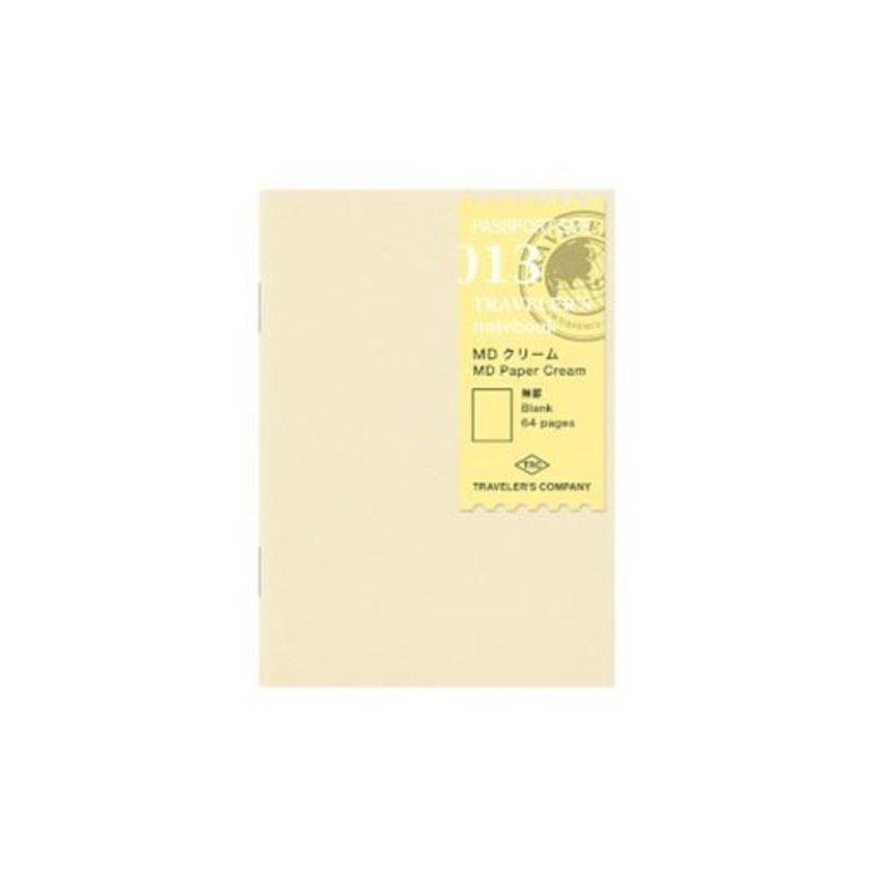 Traveler's Notebook #013 Passport Refill MD Paper Cream Blank