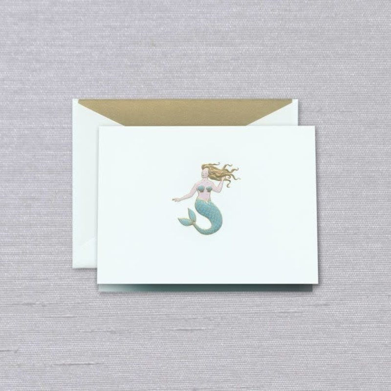 Crane Crane Beach Glass Mermaid Note