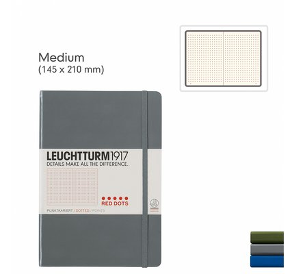 Leuchtturm1917 Leuchtturm1917 Special Edition Medium (A5) Red Dots Notebook