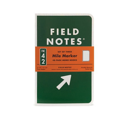 Field Notes Field Notes Mile Marker 3 Pack Notebook