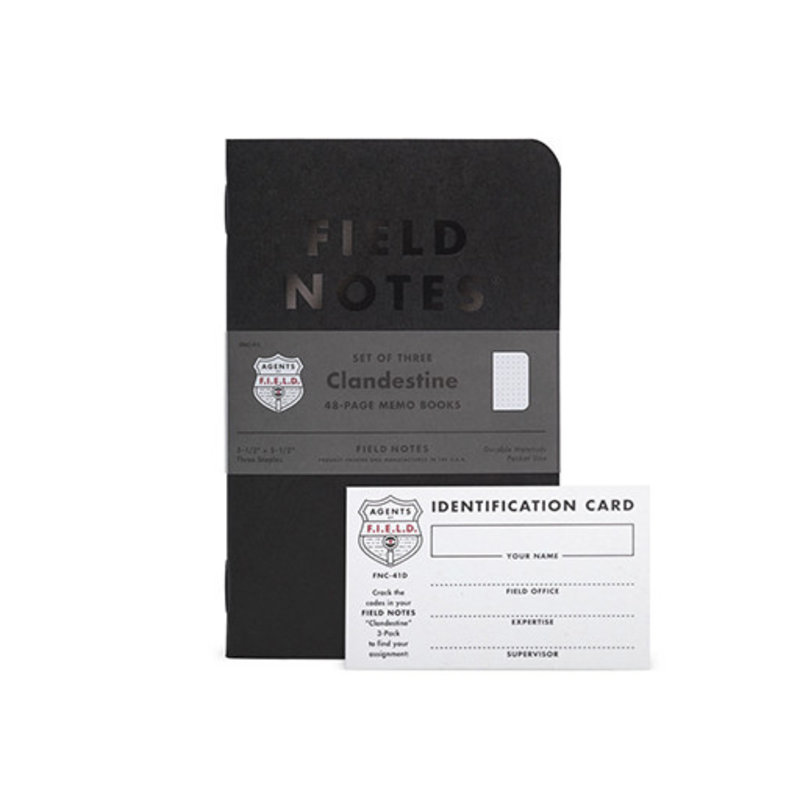 Field Notes Limited Edition Clandestine 2018 Dot Grid 3-Pack