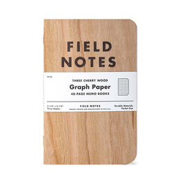 Field Notes Three Cherry Wood Graph 3-Pack