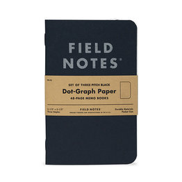 Field Notes Field Notes Pitch Black Dot-Graph Memo Book 3-Pack