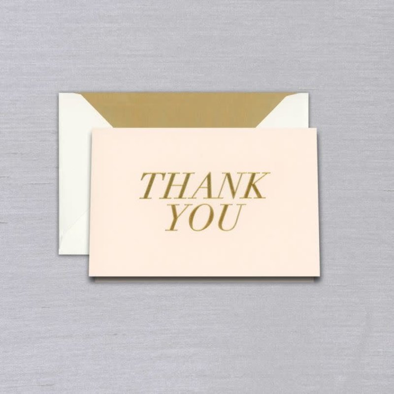 Vera Wang Blush Thank You Note