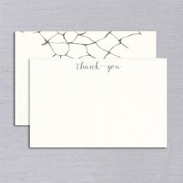Vera Wang Engraved Dragonfly Wings Thank You Card