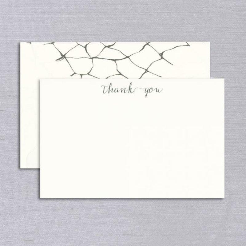 Vera Wang Engraved Dragonfly Wings Thank You Card