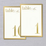 Vera Wang Gold Bordered Table Numbers 1-10