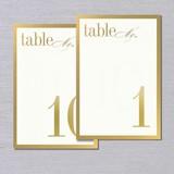 Vera Wang Vera Wang Gold Bordered Table Numbers 1-10 (Discontinued)