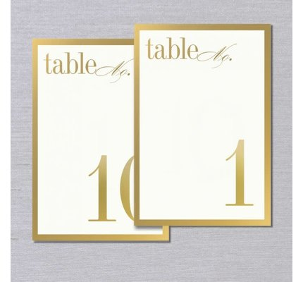 Vera Wang Vera Wang Gold Bordered Table Numbers 1-10