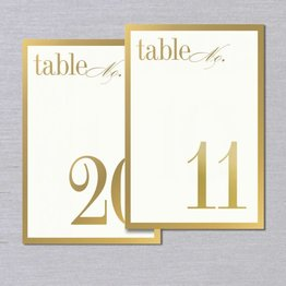 Vera Wang Gold Bordered Table Numbers 11-20
