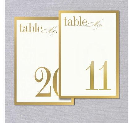 Vera Wang Vera Wang Gold Bordered Table Numbers 11-20