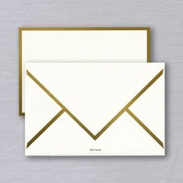 Vera Wang Gold Foil Bordered Card