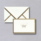 Vera Wang Gold Foil Bordered Thank You Note