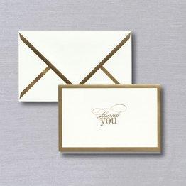 Vera Wang Vera Wang Gold Foil Bordered Thank You Note (Discontinued)