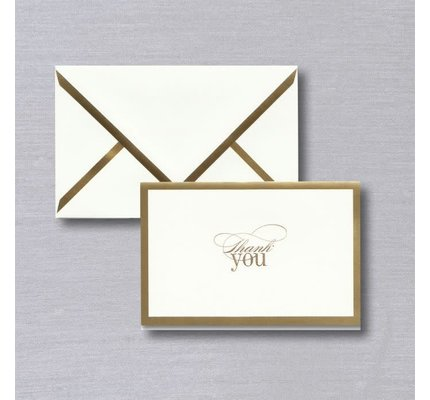 Vera Wang Vera Wang Gold Foil Bordered Thank You Note
