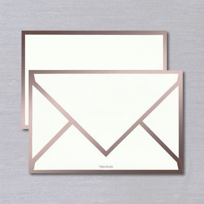 Vera Wang Rose Gold Bordered Card