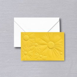 Vera Wang Saffron Jeweled Daisy Embossed Note