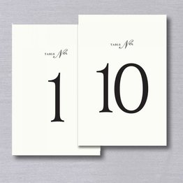 Vera Wang Vera Wang Table Numbers 1-10