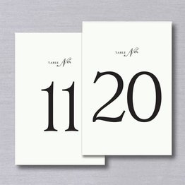 Vera Wang Table Numbers 11-20