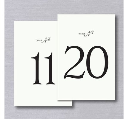 Vera Wang Vera Wang Table Numbers 11-20