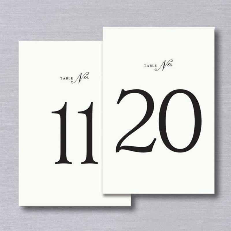 Vera Wang Vera Wang Table Numbers 11-20