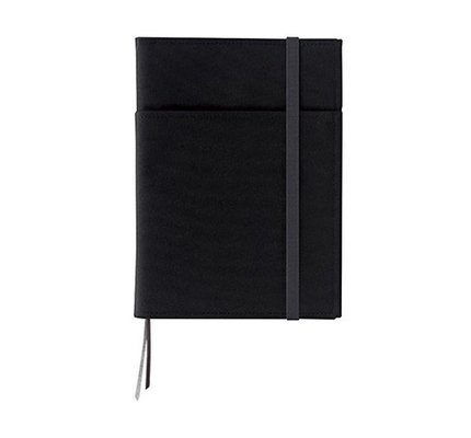 Kokuyo Kokuyo Systemic Refillable Black A5 Leather Cover