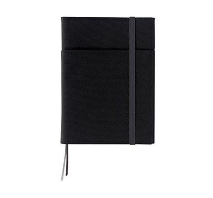 Kokuyo Kokuyo Systemic Refillable Black A5 Leather Cover
