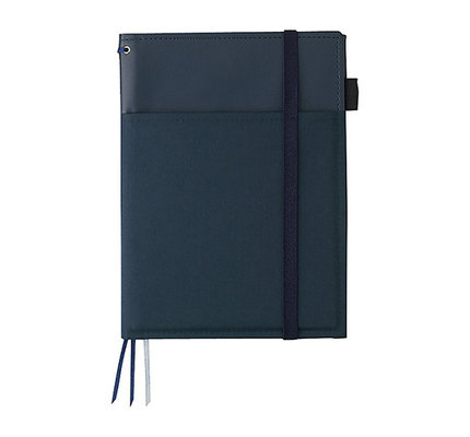 Kokuyo Kokuyo Systemic Refillable Blue A5 Leather Cover