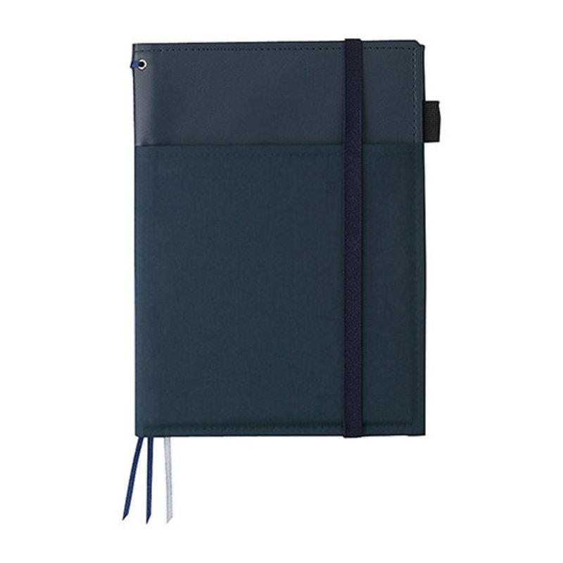 Kokuyo Kokuyo Systemic Refillable Blue A5 Leather Cover