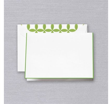 Crane Crane Spring Green Bordered Notes