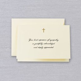 Crane Crane Ecru Cross Sympathy Note