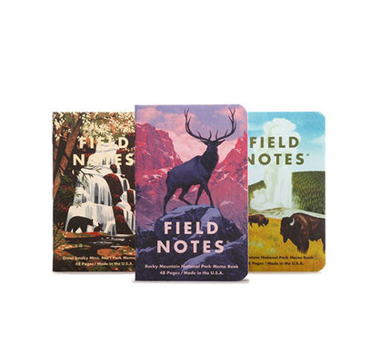Field Notes National Parks Series C Rocky, Smoky, Yellowstone Notebooks