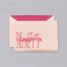 Crane Crane Pink Flamingos Note